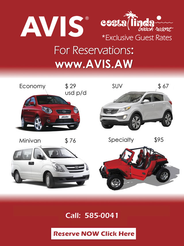 avis car rental aruba	  Avis Car Rental