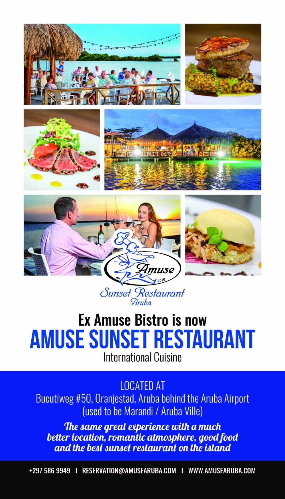 Amuse Aruba Artwork Sunset Restaurant Aruba